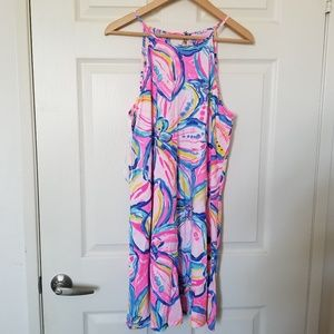 Lilly Pulitzer Sleveless Floral Pink Dress Size M